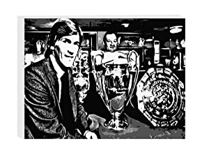 Kenny Dalglish Liverpool Fc Framed Canvas Art Print 50x40cm - Ready To Hang from Austerity Art