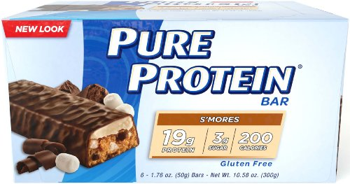 Pure Protein High Protein Bar, S'mores, 6 Bars, 1.76 Ounces (Pack of 2)
