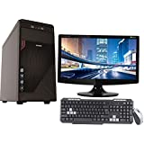 "UNBEATEN! QUAD CORE CPU / 4GB RAM/ 320GB HDD / ATX CABINET WITH 18"" LED DESKTOP PC COMPUTER"