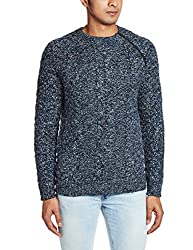 French Connection Men's Blended Sweater (886928658338_58EPN_Large_Majolicablue)
