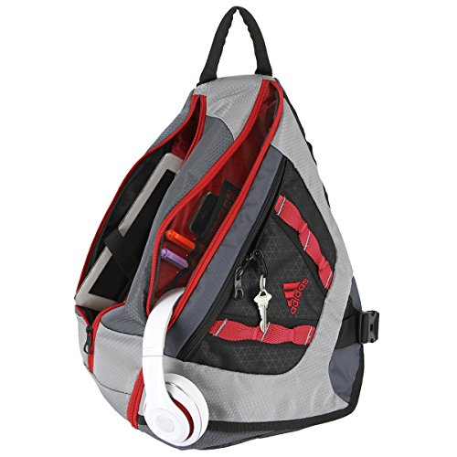 Adidas Capital Sling Backpack Deepest Space Grey Scarlet