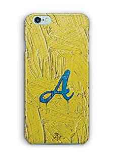 YuBingo Monogram with Beautifully Written Funky Colourful Paint Finish letter A Designer Mobile Case Back Cover for Apple iPhone 6