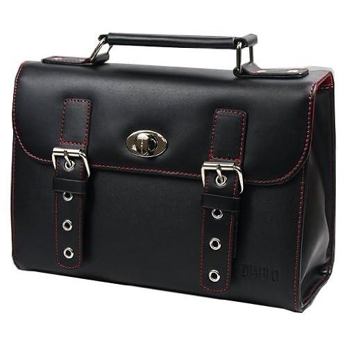 DIABLO セカンドバッグ(ビジネスバッグ) メンズ 牛革 KA-2092 【ブラック×レッド】