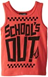 Volcom Boys 2-7 Schools Out Tank Youth, Red, X-Large