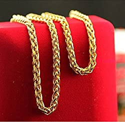 Magic Stones Brass 18 CT Gold And Rodium Coated Chain For Men-VEchain5