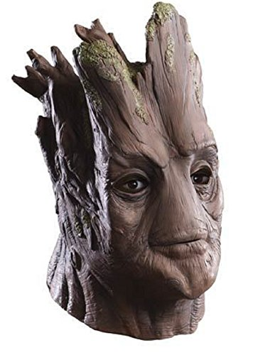 [Adult Groot Full Latex Deluxe Mask Guardians Of The Galaxy Costume Accessory] (Female Centaur Costume)