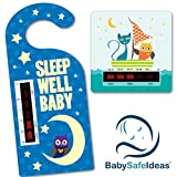 Sleep Well Baby Nursery Room Thermometer Owl and the Pussycat Bath Thermometer