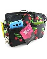 Periea Organiseur de sac à main 12 Compartiments + mousqueton GRATUIT - Noir avec des cerises rouges - Ria