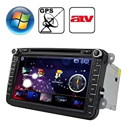 See Rungrace 8.0 inch Windows CE 6.0 TFT Screen In-Dash Car DVD Player for Volkswagen with Bluetooth / GPS / RDS / ATV Details