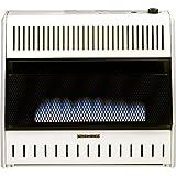 PROCOM Blue Flame Vent Free Wall Heater - 30,000 BTU Output, 1000 Sq. Ft. Heating Capacity