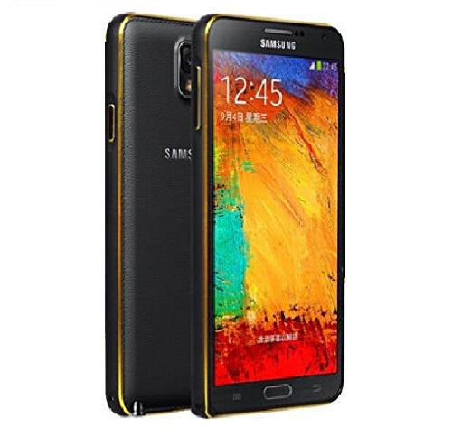 Dual Tone Circular Arc Shaped Metal Bumper Case Cover for Samsung Galaxy Grand 2 - Black