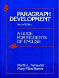 Paragraph development :  a guide for students of English /