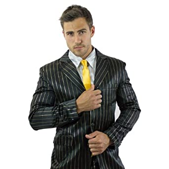 The Official How I Met Your Mother Black & Gold Pinstripe Suitjamas (XL)