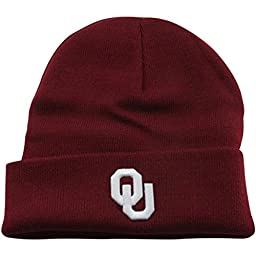 Oklahoma Sooners Official NCAA One Size Simple Knit Cuffed Beanie Hat by Top of the World