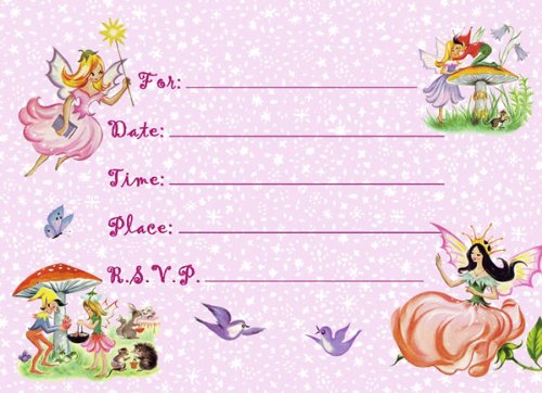 Dolce Mia Fairies Party Invitations Party Pack