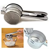 Zicome Stainless Steel Handle Manual Potato Masher Ricer Fruit Juicer Vegetable Press Baby Food Home Kitchen Tool