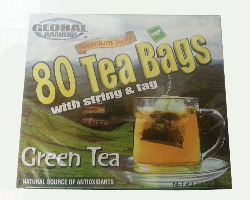 80 Tea Bags With String And Tag By Global Brands 2.8 Oz. &