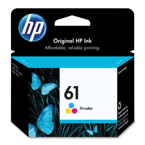 HP 61 CH562WN#140 TriColor Ink Cartridge in Retail Packaging Picture