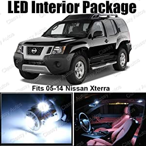 Amazon.com: Classy Autos Nissan Xterra White Interior LED Package (8