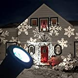 GESIMEI Draussen LED Beamer Lampe Weihnachten Baum Garten Terrasse Haus Dekor Schneeflocke Landschaft Flut Beleuchtung Weiß