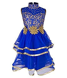 Addyvero Persian blue Girls Gown Dress