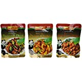 Panda Brand Ready In Minutes Asian Stir Fry Sauce 3 Flavor Variety Bundle: (1) Panda Sauce For Broccoli Beef, (1) Panda Sauce For Orange Chicken, and (1) Panda Sauce For Kung Pao Chicken, 8 Oz. Ea. (3 Pouches Total)