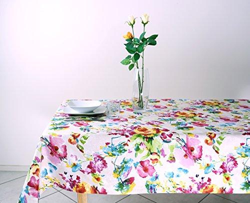 Tovaglia Rettangolare Cucina e Soggiorno Loneta In Policotone Fantasia Floreale mis. 140 x 240 cm - Design Esclusivo 2016