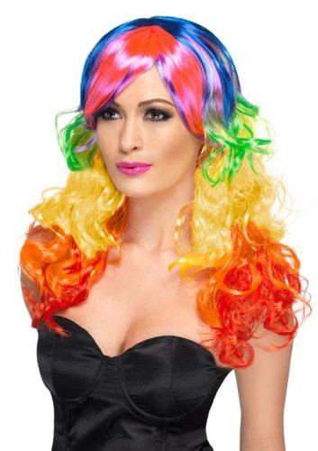 Smiffy'S Rainbow Curl Wig, Multi, One Size