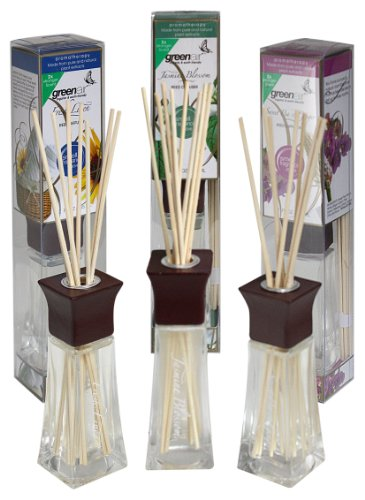 Greenair All Natural Reed Diffuser Set Of 3, Sweet Pea, Jasmine And Fresh Linen, 6.6-Ounce front-535925