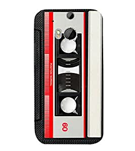 Cassette Player 3D Hard Polycarbonate Designer Back Case Cover for HTC One M8 :: HTC M8 :: HTC One M 8