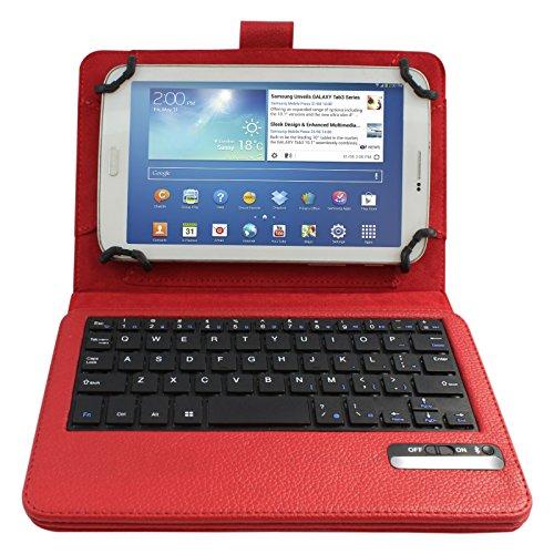 "DMG Detachable Bluetooth Keyboard Case Cover For 7"" 8"" 7.9"" inch Tablet PU Leather, including iPad Mini, 2, 3, Mini 4 ; Samsung Galaxy Tab3, Tab 4; Google Nexus 7; Dell Venue 8 Pro (Black)"
