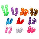 Mix Style Barbie Doll Party Shoes X 10 Hot Cute Mix 10pcs Different Barbie Shoes For Barbie Doll Acc