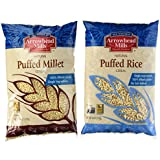 Variety Pack: Arrowhead Mills Puffed Rice Cereal And Puffed Millet Cereal, 6-oz. Packages (1 Of Each)