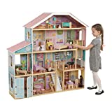 KidKraft Grand View Mansion Dollhouse with Ez Kraft Assembly, Multicolor (Color: Multicolor)