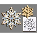 R & M International Giant 7.5 Inch Snowflake Cookie Cutter with Interior Cut-out by R&M