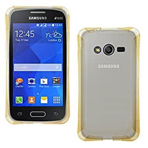 DMG Ultra Thin Flexible TPU Extra Protection and Grip Back Cover Case For Samsung Galaxy Ace NXT SM-G313H / S Duos 3 SM-G313 (Golden)