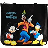 Disney Mickey Mouse & Friends Black Tote Bag and Sticker Sheet