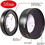 Neewer® 58mm 0.45x Wide Angle Lens Macro for Canon Digital EOS Rebel T1i, T2i, T3, T3i, T4i, T5i, SL1, EOS 60D, EOS 70D, 50D, 40D, 30D, EOS 5D, EOS 1D, EOS 5D Mark 2, EOS D Digital SLR Cameras Which Has Any Of These (18-55mm, 55-250mm, 100-300mm, 18-250mm, 70-300mm, 75-300mm, 50mm 1.4 , 55-200mm. 24mm) Canon Lenses (Lens Bag included)