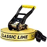 Gibbon Slack Lines Classic Line X13 with Single Ratchet and Protection - Yellow, 49 Inch