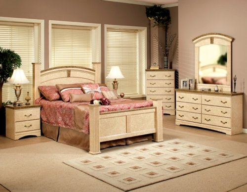 Napoli California King Estate Bed 3 Piece Bedroom Set By Sandberg Furniture with Gold Shipping
