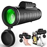 SeKunmRy Monocular Telescope, 2019 Newest High Power 12x50 HD Waterproof Fog Proof Monocular with Smartphone Holder & Tripod,Perfect for Bird Watching,Watching Wildlife.Formerly Polaris Optics (Color: Black)