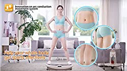 Robotouch Vibraslim Body Shaper Fitness Machine - Powerful Slimming Massager For Weight Loss - With Wireless Watch
