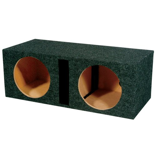 Q Power Dual 15-Inch Vented Unloaded Box (15 Subwoofer Box compare prices)