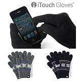 iTouch Glovesスマートフォン対応手袋 Pattern(ジャカードネイビー/L)