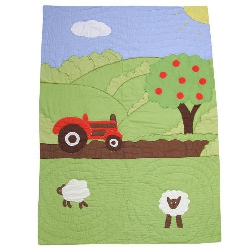 Farmyard Quilt/Baby Blanket/Cot Quilt/Baby Bedding
