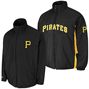 Pittsburgh Pirates Black Authentic Triple Climate 3-In-1 On-Field Jacket by Majestic by Majestic