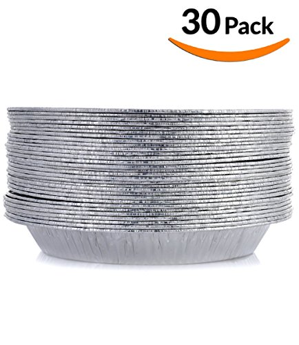 DOBI Pie Pans - Disposable Aluminum Foil Pie Plates, Standard Size - 9 x 1.25 Inches, Pack of 30. Favorite Pie Tin for Homemade Cakes & Pies (Aluminium Pie Plate compare prices)