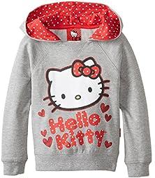 Hello Kitty Little Girls\' Character Hoodie, Heather Grey, 5
