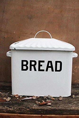 Creative Co-op Enameled Metal Bread Box, White (Bread Enamel compare prices)
