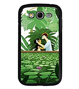Fuson Premium 2D Back Case Cover Cute couple With Multi Background Degined For Samsung Galaxy Grand Neo::Samsung Galaxy Grand Neo i9060